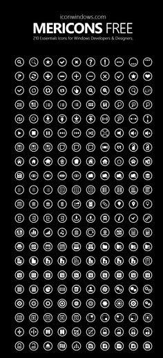 DOWNLOAD THEM FREE - Metricons Free Icon Pack