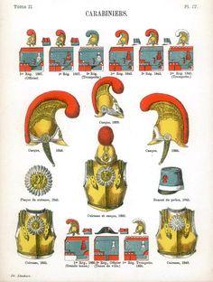 Карабинеры Uniformes de I'Armee Francaise 1690-1894 Lienhart & Humbert