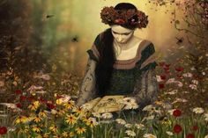 Reading among the wild flowers - (#112389) - High Quality and Resolution Wallpapers on hqWallbase.com