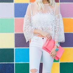 SnapWidget | Happy Friday Friends!  Majorly crushing on this lace top, perfect for #vday (also available in black & blush!) @liketoknow.it www.liketk.it/2ahm4 #liketkit #ootd #acolorstory #ltkunder100 #potd #fashion #colorful  @realityandretrospect