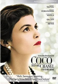 movie...Coco Avant Chanel [PN1997.2 .C636 2010] Years after being abandoned at an orphanage by her father, Gabrielle Chanel finds a job in a tailor shop where she meets, and soon begins an affair with French millionaire Etienne Balsan. Through Baron Balsan she is introduced into French society and given the opportunity to design her own style of hats. Though her career takes off, her personal life becomes more complicated when she falls in love with Balsan's former best friend Arthur Capel.