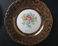 Excited to share the latest addition to my #etsy shop: Vintage W.S. George Radisson China w/22 k Gold Flash 6 piece dessert plates #housewares #finasfinevintage