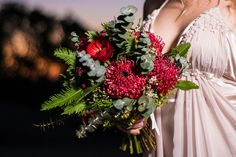 Native Australian bride's floral bouquet by Ginger Lily & Rose Floral Design Studio.