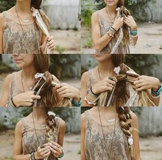 Sincerely, Kinsey: Four Strand Braid With Lace Hair Tutorial