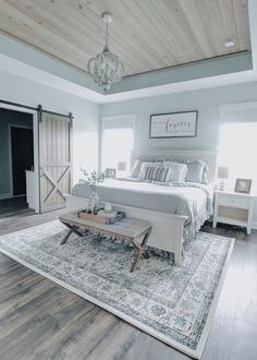 Home Interior Paint Master Bedroom Refresh Remington Ranch Farmhouse.Home Interior Paint Master Bedroom Refresh Remington Ranch Farmhouse Farmhouse Master Bedroom, Home Bedroom, Modern Bedroom, Master Bedroom Furniture Ideas, Contemporary Bedroom, Light Master Bedroom, Beautiful Master Bedrooms, Bedroom Rustic, Master Master