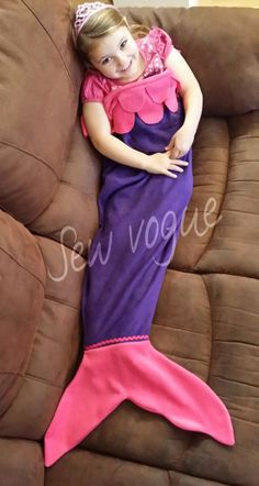 Mermaid Tail Soft Fleece snuggle-in Blanket / Sleeping Bag UK made. Personalised in Crafts, Hand-Crafted Items | eBay!