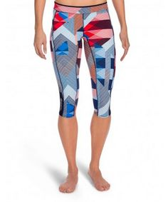 SKINS A200 Compression Running Tights - Capris n This Way Up Style - front