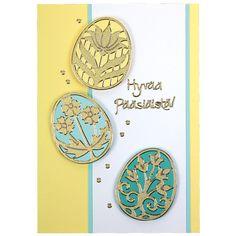 Ääriviivatarrojen avulla valmistettu raikas pääsiäiskortti. Tarvikkeet ja ideat Sinellistä!