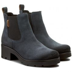 Kotníková obuv s elastickým prvkem LASOCKI - ALTEA-01W Tmavomodrá Chelsea Boots, Ankle, Shoes, Fashion, Moda, Zapatos, Wall Plug, Shoes Outlet