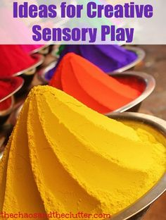 Ideas for Creative Sensory Play using all sensory input - The Chaos and the Clutter