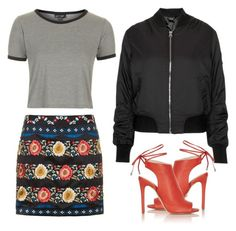 """""""Geen titel #382"""" by fashionloveandinspiration ❤ liked on Polyvore featuring Topshop"""