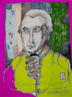 mr marian hergouth, Kant 3 Portrait, Artist, Artwork, Canvas, Drawing S, Work Of Art, Men Portrait, Paintings, Portraits