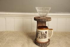 Handmade Wooden Pour-Over Stand // Redemption Woodwork