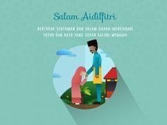 "A series of Raya Aidilfitri 2015 illustration design, inspired by ""Suasana Hari Raya"" song by Anuar Zain and Elliana."