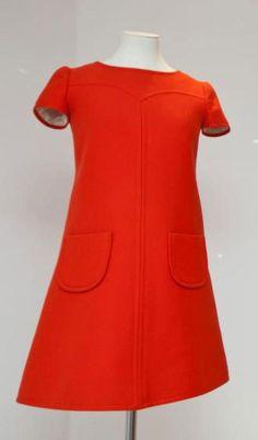 Red mini, André Courrèges, 1960s