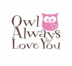 """Owl Wall Decal - Owl Always Love You Vinyl Wall Decal Quote for Boy Girl Baby Nursery Room 22""""H x 29""""W Wall Art FS170. $36.00, via Etsy."""