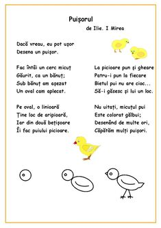 Citim, desenăm, colorăm - Puișorul Infant Activities, Preschool Activities, Kids Poems, English Activities, Vintage School, Class Decoration, Kids Education, Nursery Rhymes, Kids And Parenting