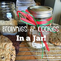 Brownies or Cookies In-A-Jar - A Delicious Holiday Treat