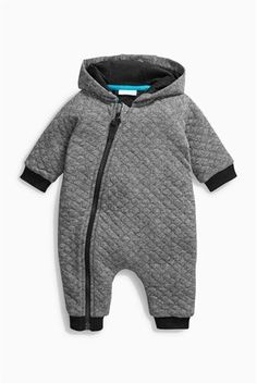 Buy Grey Quilted Romper (0mths-2yrs) from the Next UK online shop