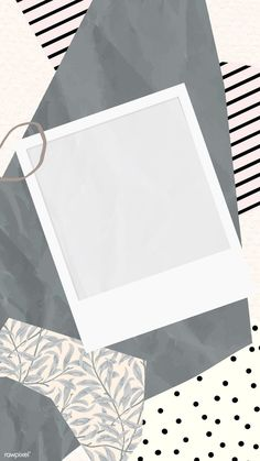 paper patterns Blank picture frame on scrapped papers pattern mobile phone wallpaper vector, iphone wallpaper Polaroid Picture Frame, Polaroid Pictures, Picture Frames, Picture Templates, Photo Collage Template, Instagram Frame Template, Framed Wallpaper, Instagram Background, Instagram Story Ideas