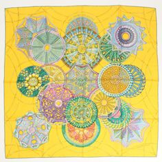 Hermes Scarf Shawl 100% Silk Carre90 LES DOMES CELESTES AUTHENTIC #Hermes #Scarf