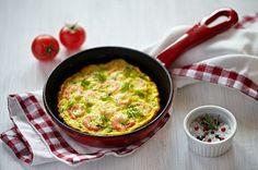 Omelett mit Krabben und Zucchini