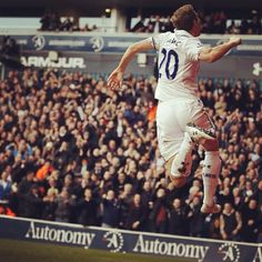 Michael Dawson celebrating his goal against Reading on New Years Day