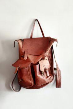 Stylish beautiful Fox brown leather backpack perfect stylish hiking bag Womensfashion fashioninspiration