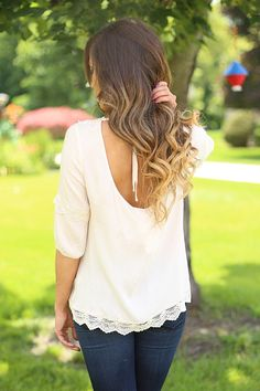Lace Accents Top