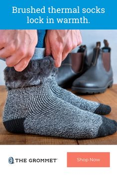 The men's brushed thermal socks from Heat Holders retain warmth and wick moisture better. Expore these ultra-warm and plush socks made to fit your lifestyle. Great Gifts For Dad, Cozy Socks, Cold Feet, Cotton Socks, Cold Day, Mens Fitness, Winter Boots, Cushion, Outdoors