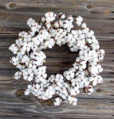 "Cotton Wreath 28"""