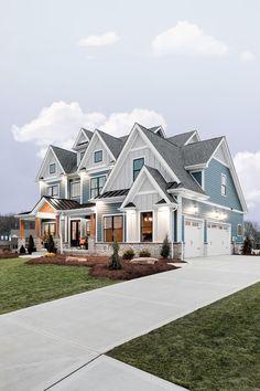 Dream House Exterior, Dream House Plans, House Ideas Exterior, Dream Home Design, My Dream Home, Dream Life, Luxury Homes Dream Houses, Dream Homes, Modern Farmhouse Exterior