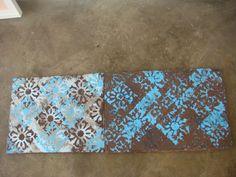 Terra Azul acrilico e textura sobre tela 2011 - 40x50 e 50x60 diptico - acrylic on canvas - Melina Ollandezos