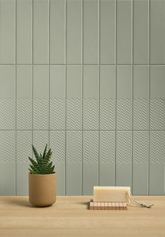 A series of white bodied wall tile comprised of opaque, geometric and three-dimensional surfaces. Cafe Interior, Interior Walls, Ceramic Design, Tile Design, Modern Interior Design, Interior Architecture, Brick Arch, Floral Room, Decor Inspiration