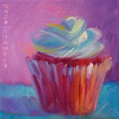 Heartbreaker by Penelope Moore Cupcake Images, Cupcake Art, Inspirational Wall Art, Edible Art, Art Pages, Fine Art America, Greeting Cards, Vibrant, Artist
