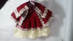 Red Riding Hood Dress for 15-19 Inch Porcelain Doll ~ Red Velvet and Cream Satin Antique Lace ~ Vintage Handmade Dress for Dolls by FugitiveKatCreations on Etsy