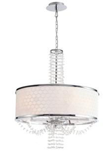 Crystorama Allure 5 Light Chrome Drum Shade Chandelier II