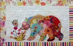 Paisley Bear Pattern - Laura Heine at Fiberworks quilt shop in Billings, MT