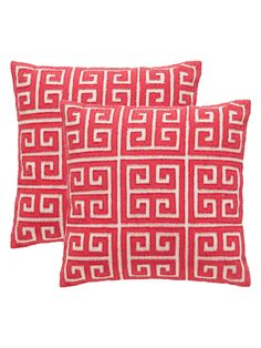 Safavieh Pillows Embellished Square Pillows (Set of 2)