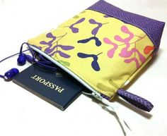 Custom Made-to-Order Travel/Makeup Pouch, Cotton Fabric