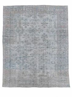 We love this vintage rug's all-over floral field and the blues and sage greens in its outer border. Red threads are used throughout to punctuate the rug's motif against a cool white background, but the overall palette remains solidly cool. This rug has been treated with an antique wash, softening its tones to appeal to the palette of any modern-day home Cool White Backgrounds, Vintage Rugs, Vintage Items, Or Antique, Persian Rug, Colorful Rugs, Sage, Blues, Palette