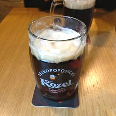 Kozel dark beer in Prague It's so smooth