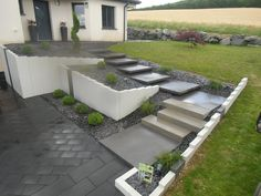 Garden Garage Ideas – Garden & Tips Backyard Greenhouse, Backyard Garden Design, Skylight Bedroom, Conservatory Kitchen, Landscape Steps, House Staircase, Outdoor Steps, Easy Garden, Amazing Gardens