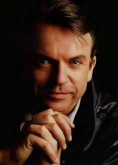 """Fantastic photo of actor Sam Neill -- one of my favorites. (I was watching him long before """"Jurassic Park."""")"""