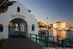 Via Casino Walkway in Avalon, Catalina Island, California