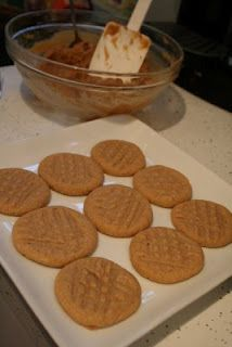 Paleo Peanut Butter cookies:  3 ingredients! Substitute the sugar for sweetener and have sugar free and paleo cookies