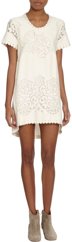 Sea Lace Front Tee Dress at Barneys.com