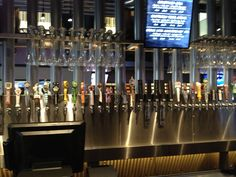 Bar inside Yard House Restaurant and Brewery in downtown Seattle, Washington