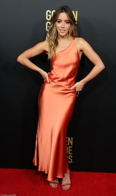 Emilia Clarke, Olivia Wilde and Camila Morrone are among the legion of stars who hit the red carpet for the Golden Globe Ambassador Launch Party in West Hollywood on Thursday. Chloe Bennett, Camila Morrone, Daisy, Full Length Gowns, Olivia Wilde, Red Carpet Dresses, Celebs, Celebrities, American Actress