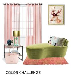 """Blush and Green"" by poshscarlet ❤ liked on Polyvore featuring interior, interiors, interior design, home, home decor, interior decorating, Threshold, Jay Strongwater, Eichholtz and Times Two Design"